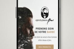 Gentleman Beard Vente d'Huile à Barbe Conception E-commerce